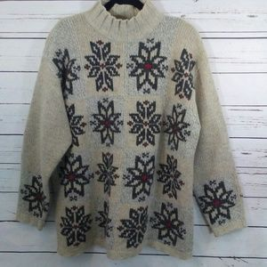 Oversized Eddie Bauer lambs wool sweater